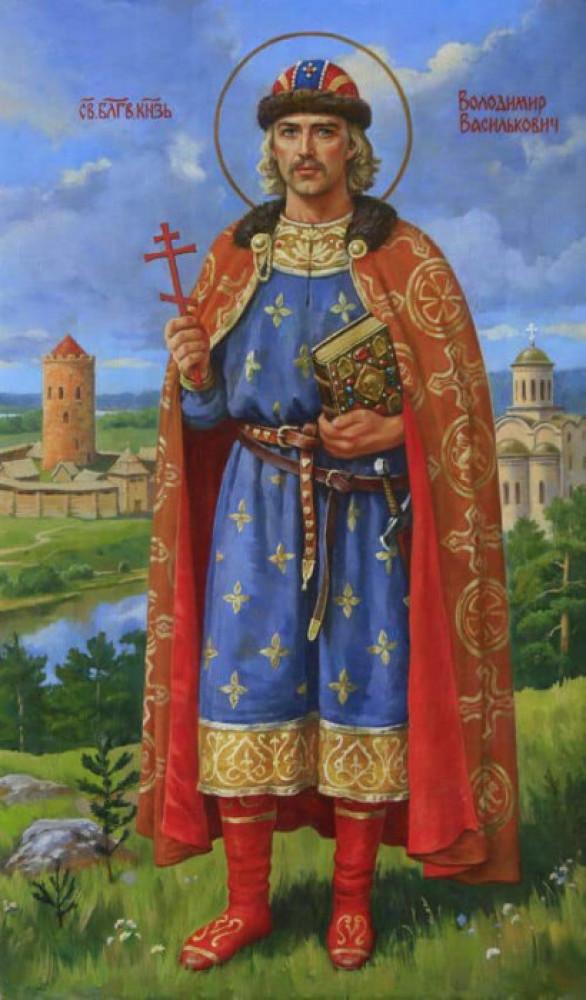 Ікона – зображення Волинського Святого, князя Володимира Васильковича