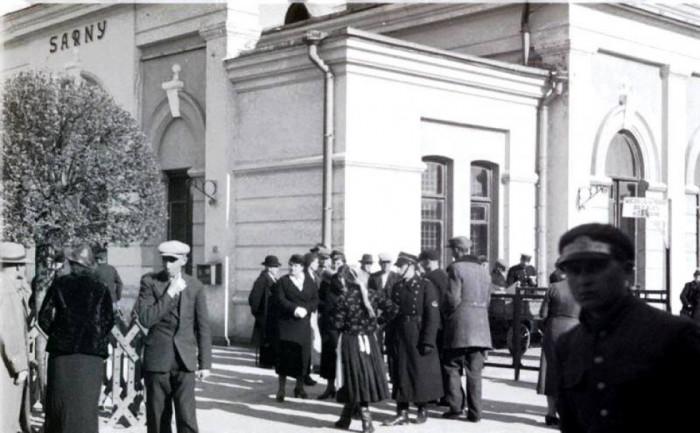 Сарненський вокзал, 1920-ті роки.