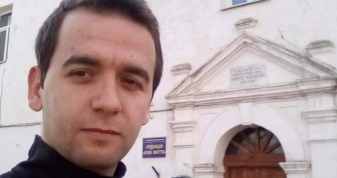 Міхал Каня під час відвідин Любешева