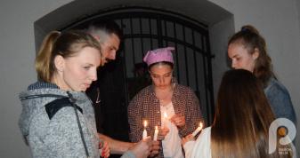 Учасники акції «Ніч у Луцькій тюрмі»