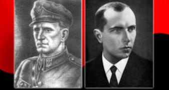 Роман Шухевич та Степан Бандера