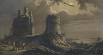 Вид на руїни Острозького замку, 1848 рік