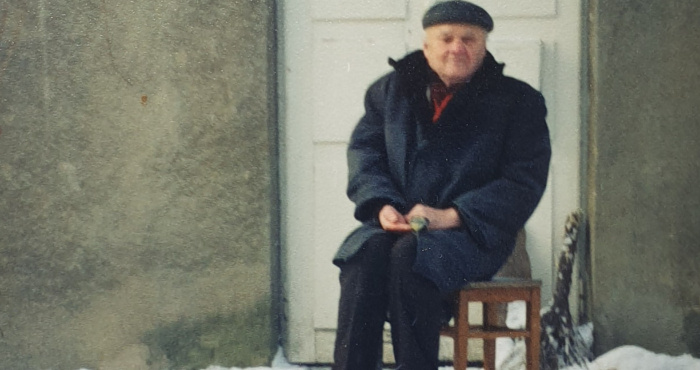 Борис Луцкевич і синичка