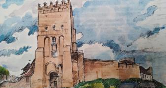 Луцький замок на малюнку Мирослави Шундерук