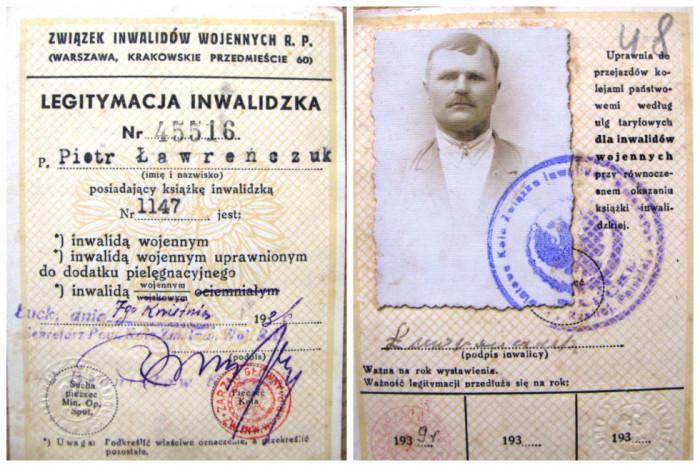 Петро Лавренчук був інвалідом війни