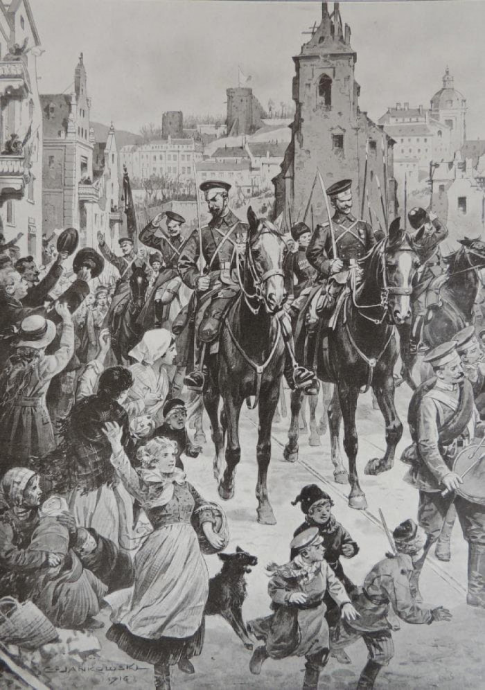 Луцьк, 1916 р. Художник Янковський