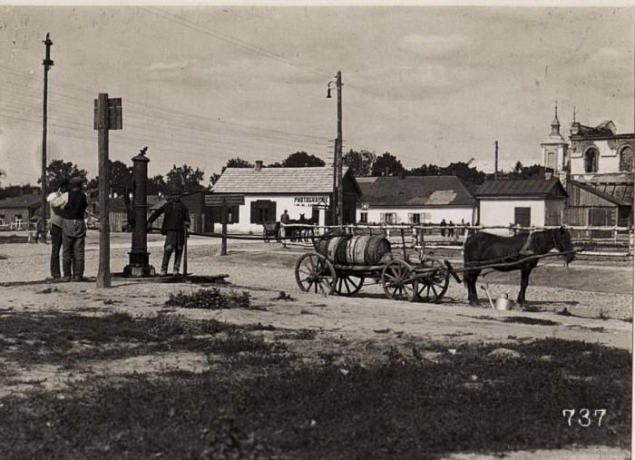Колонка та водовоз. 1915-1918 роки.
