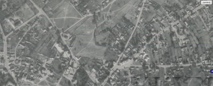 Кладовище, на якому похований Шломо Готліб Карлінер. Вид зверху, вересень 1944 року