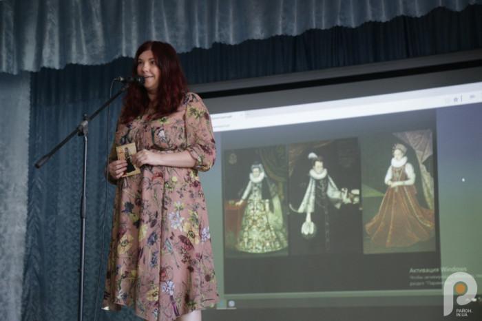 Ганна Гороженко під час презентації у Соколі