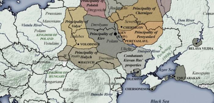 Князівства на Русі у той час