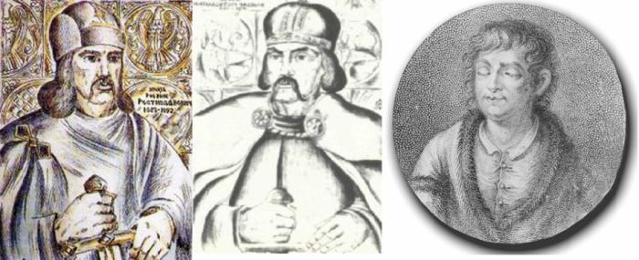 Три брати Ростиславовича – Рюрик, Володар, Василько