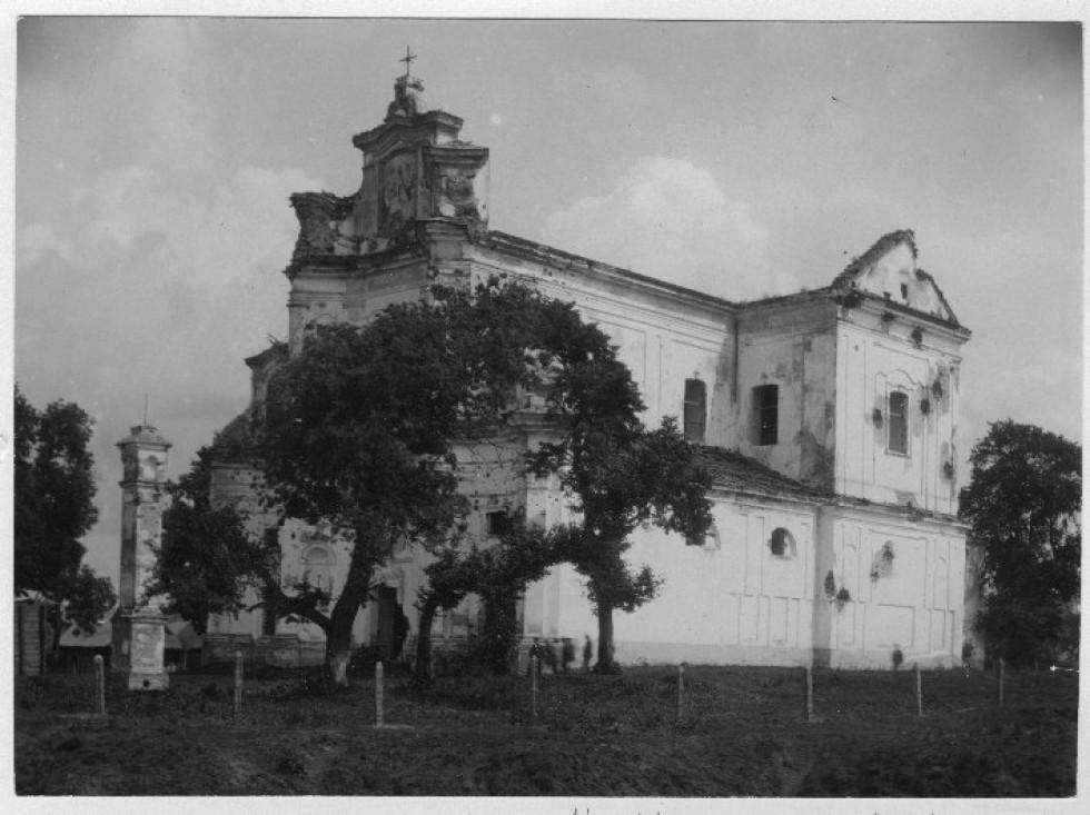 Домініканський костел в Чорторийську на фото 1929 року