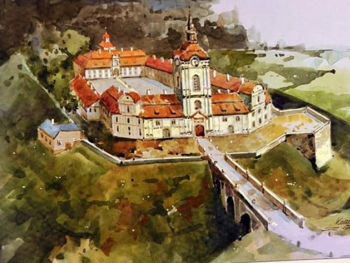 У фейсбуці опублікували малюнок Корецького замку