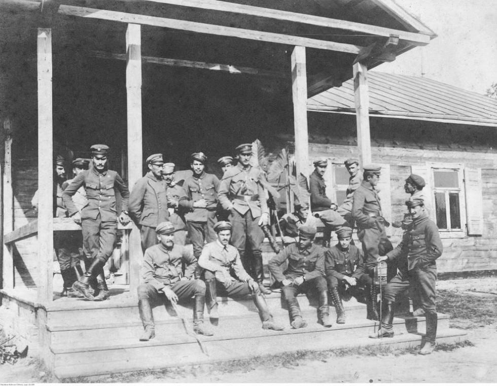 Польські легіони в с. Рудці-Миринській, 1916 р.
