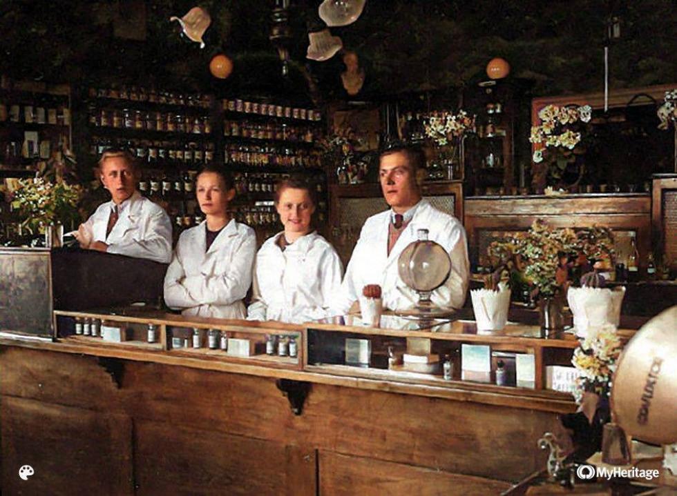Аптека в Луцьку, 100 років тому