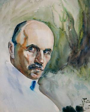 Автопортре художника, 1910 рік