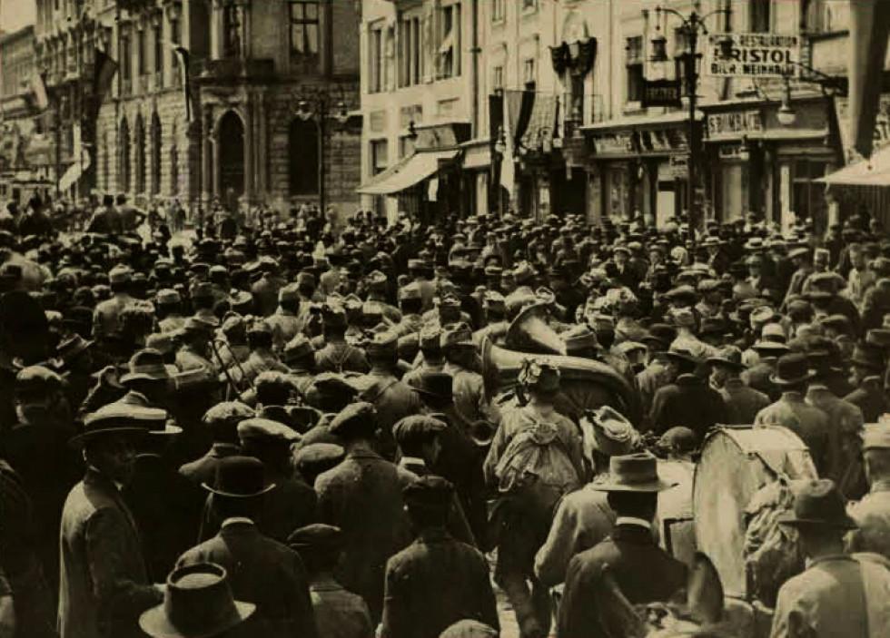 Вулиці Львова в роки Першої світової війни.