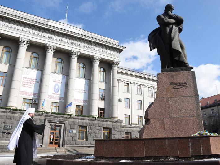 У Луцьку відправили панахиду з нагоди 160 річниці від дня смерті Тараса Шевченка