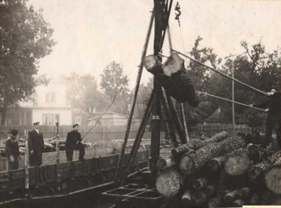 На пилорамі ДОКу. 1960-ті роки