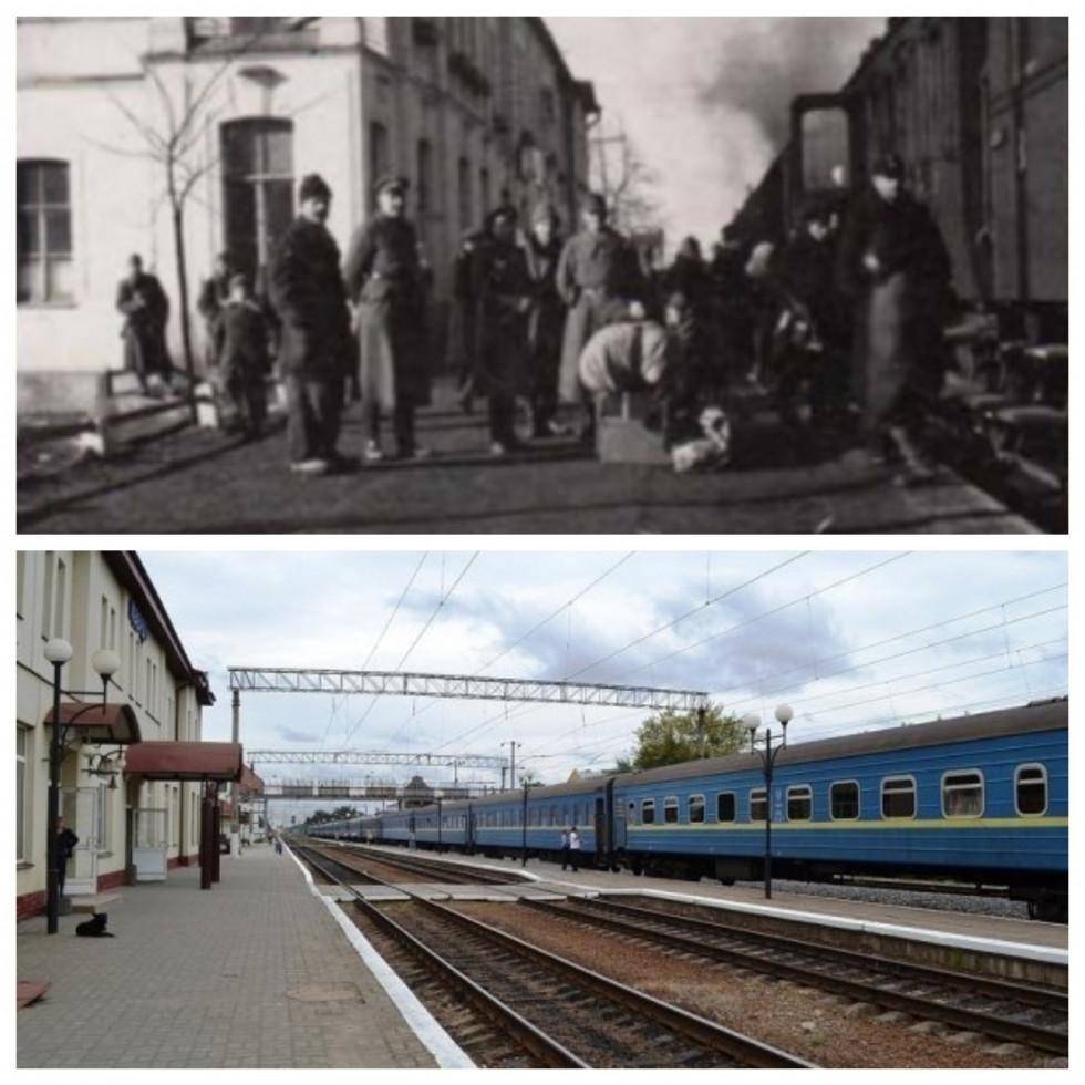 Вокзал різницею у сто років. Перон 1923 та 2017 року