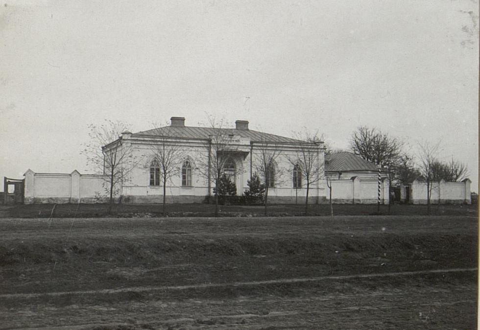 Вигляд станції в часи Першої світової війни. 1915 р.