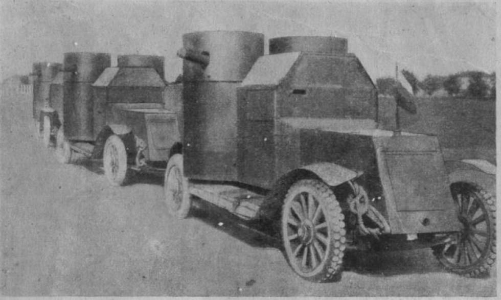 Броньовані авто «Остін», 1917 рік