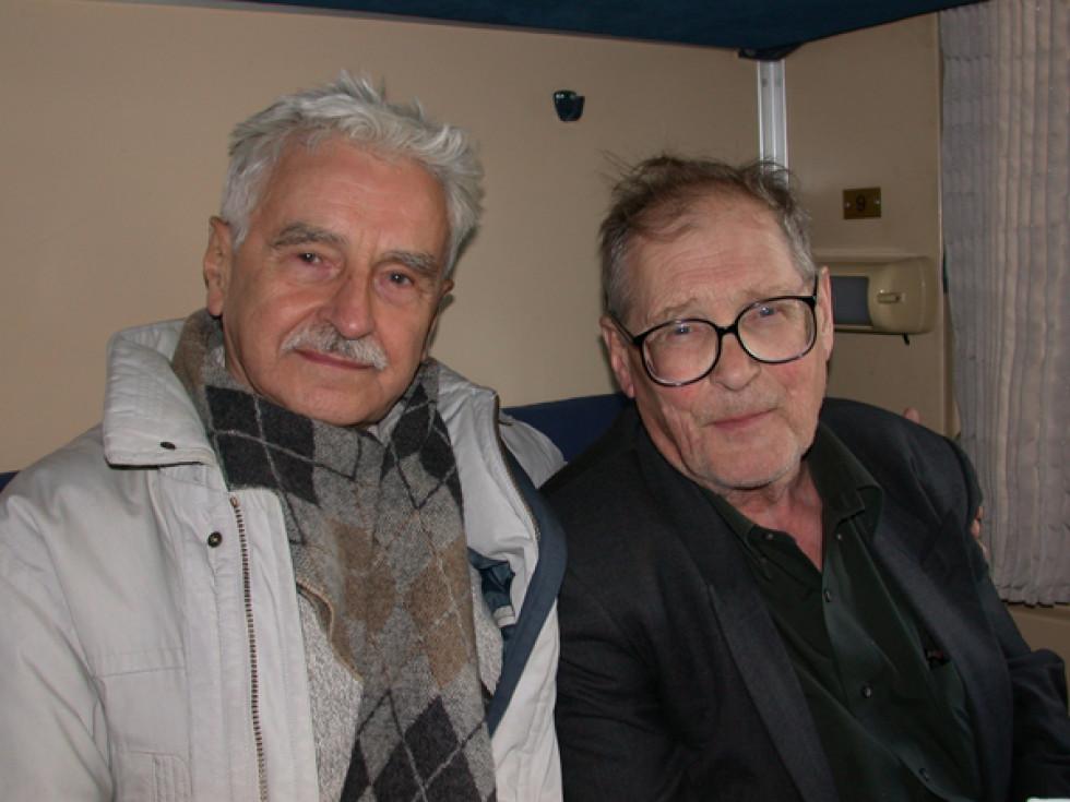 Євген Сверстюк і російський правозахисник і політв'язень Сєргєй Ковальов.  Фото надане автором