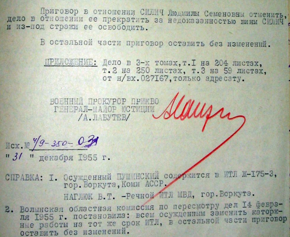 Відміна вироку Людмилі Сіліч