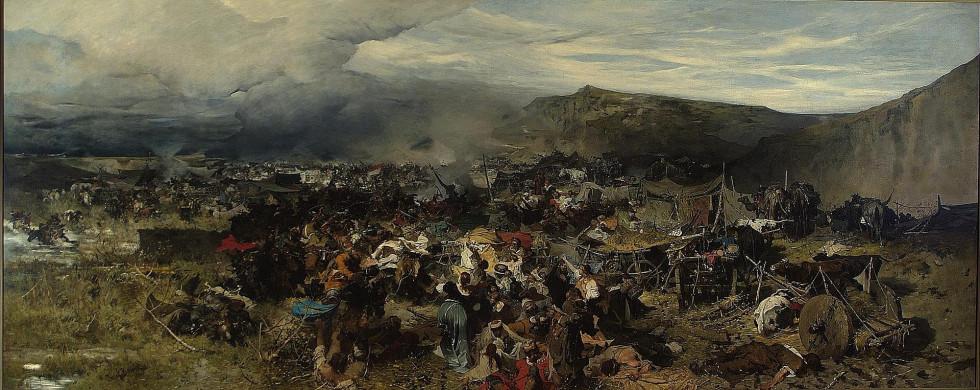Картина Йозефа Брандта «Відбиття ясиру», 1878 рік