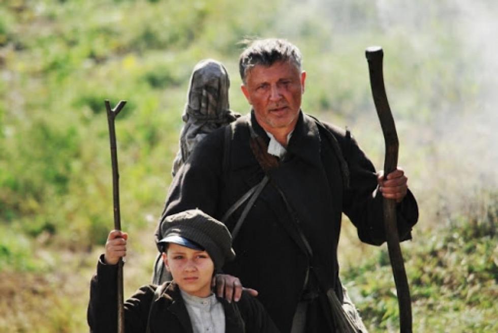 Кадр із фільму «Поводир», де головну роль зіграв Антон Грін – правнук Михайла